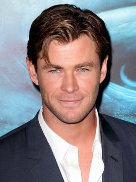 portrait of Chris Hemsworth