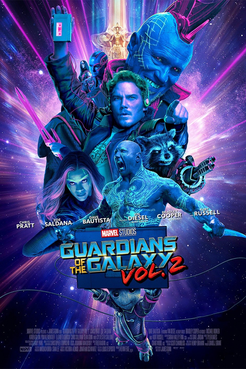 Guardians of the Galaxy Vol. 2 poster art