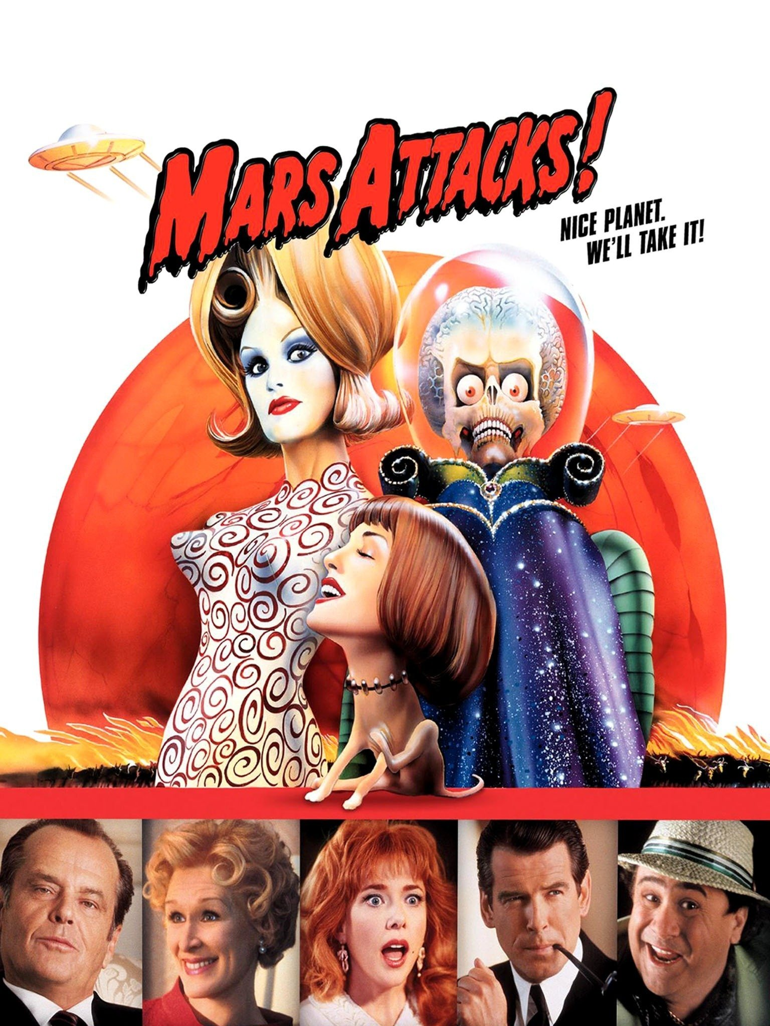16 90s Sci-FI Movies That Were Mostly Forgettable But Are Still Loved By Many Mars Attacks! (1996) - Rotten Tomatoes